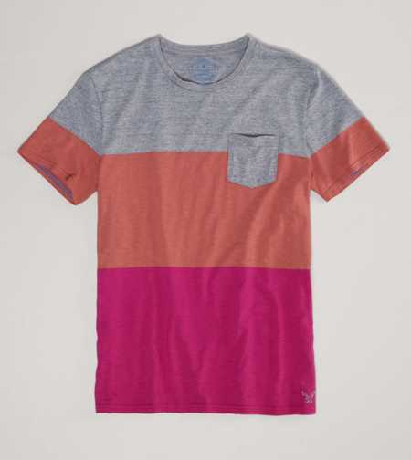 AE Striped Pocket T