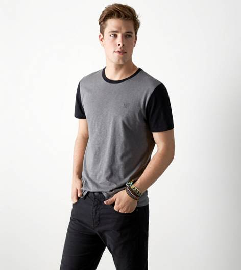 City Grey AEO Legend Crew T-Shirt