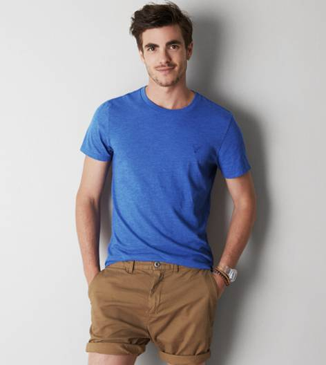 Cobalt Blue AEO Legend Crew T-Shirt