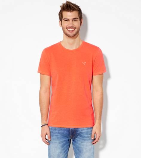 Bright Neon Red AEO Legend Crew T-Shirt