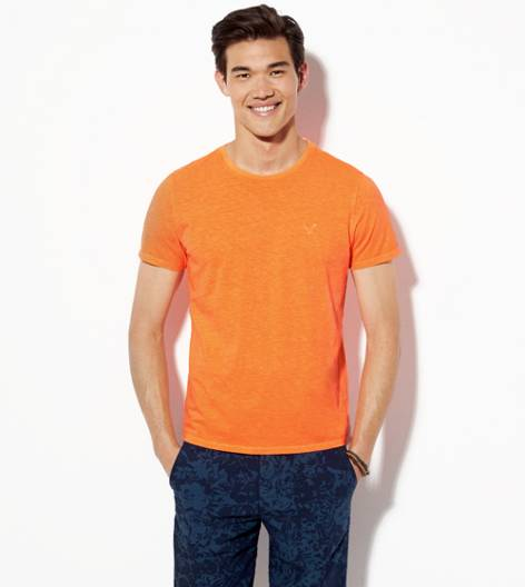 Neon Orange AEO Legend Crew T-Shirt