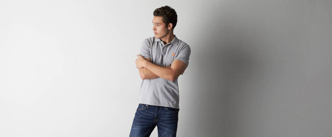 Derby Grey Heather AE Solid Polo