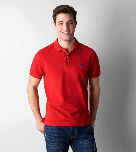 Campus Red AEO Solid Polo