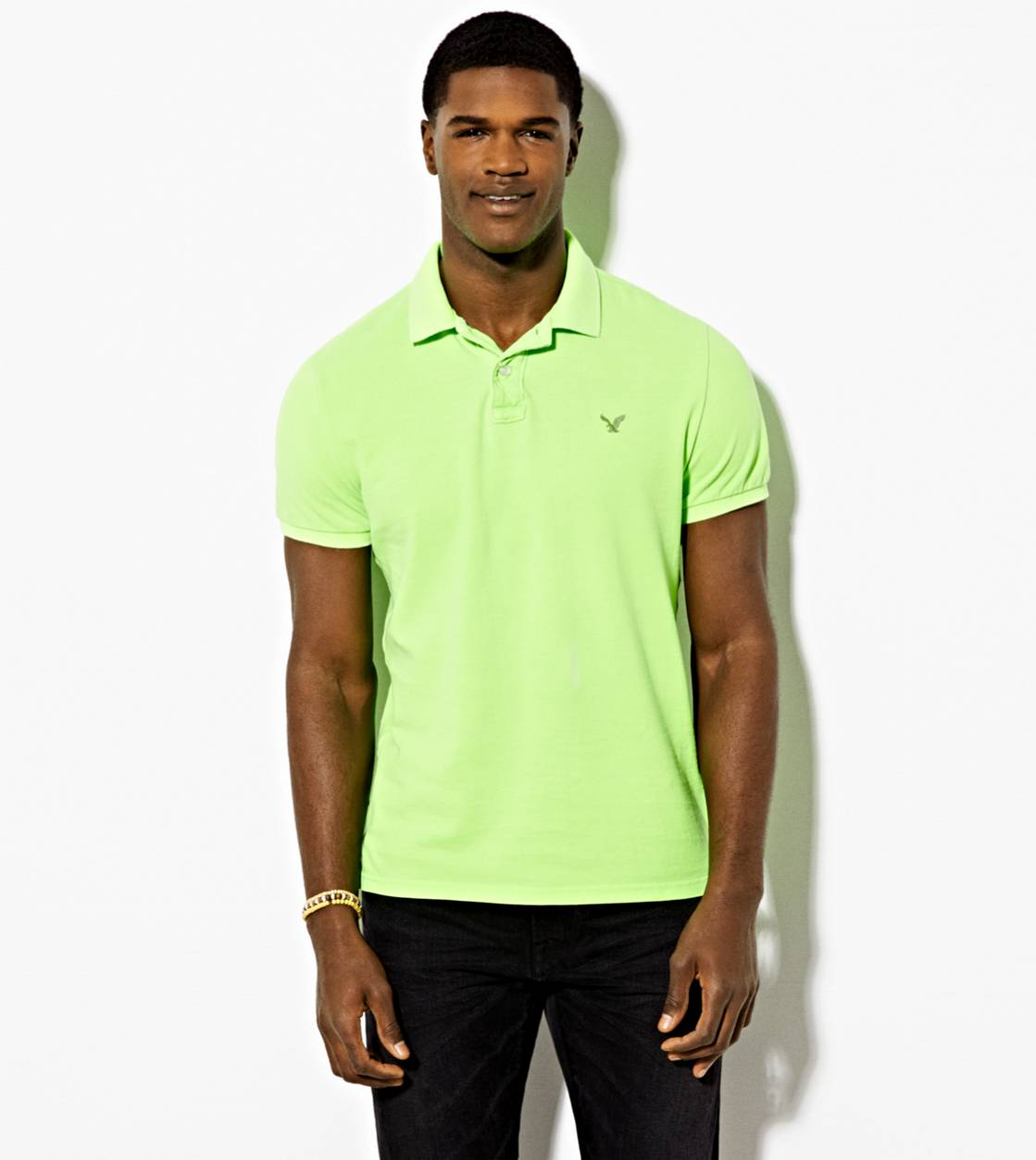 Green AE Solid Polo