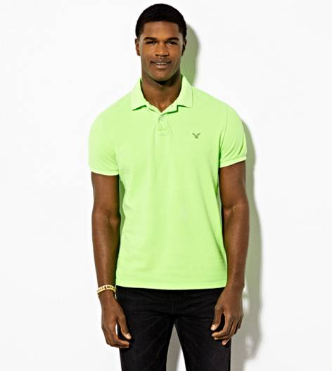 Green AEO Solid Polo