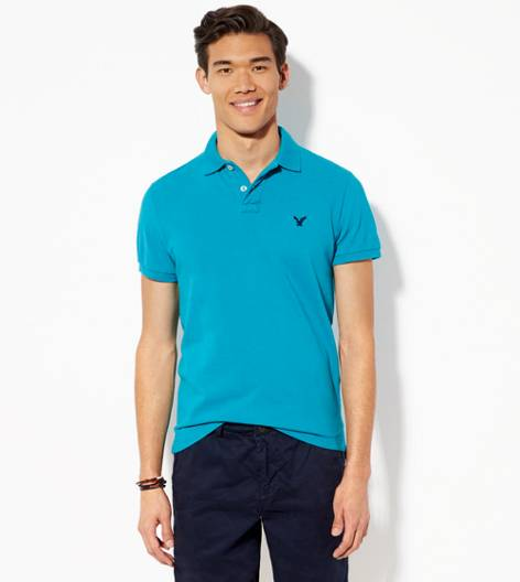 Teal AEO Solid Polo