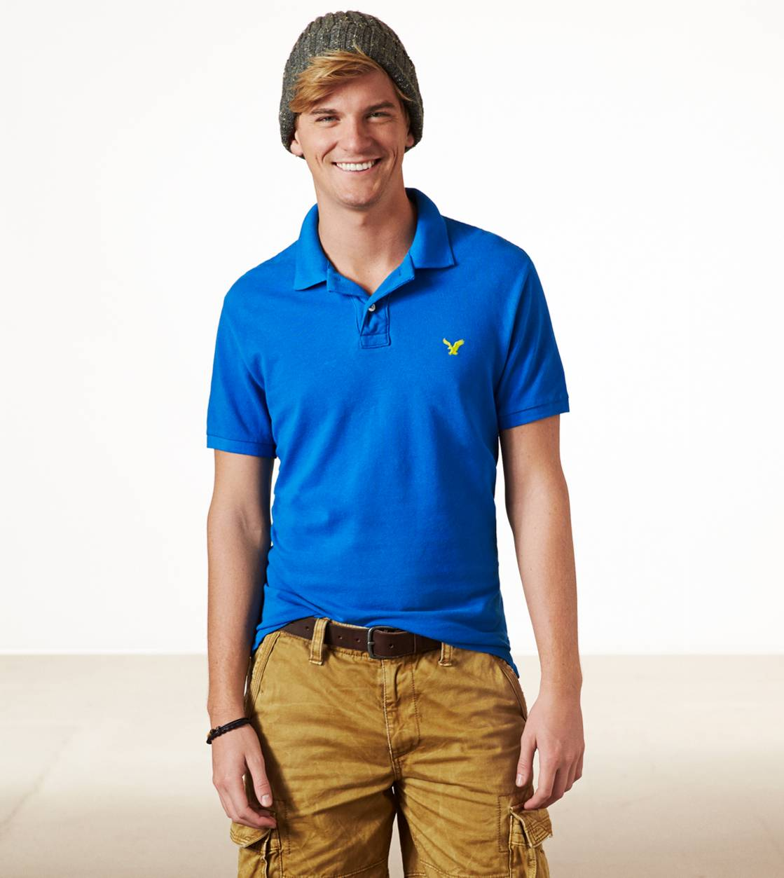 Moto Blue AE Solid Polo