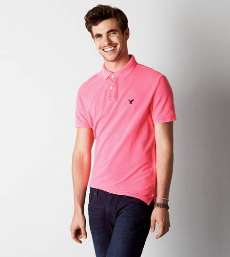 Neon Flash AEO Solid Polo