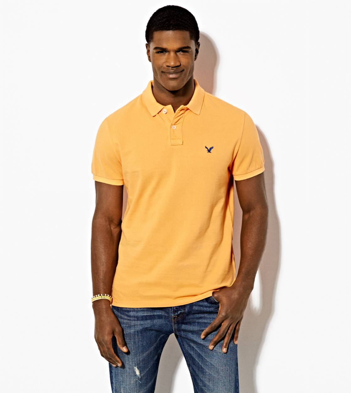 Orange Wash AE Solid Polo