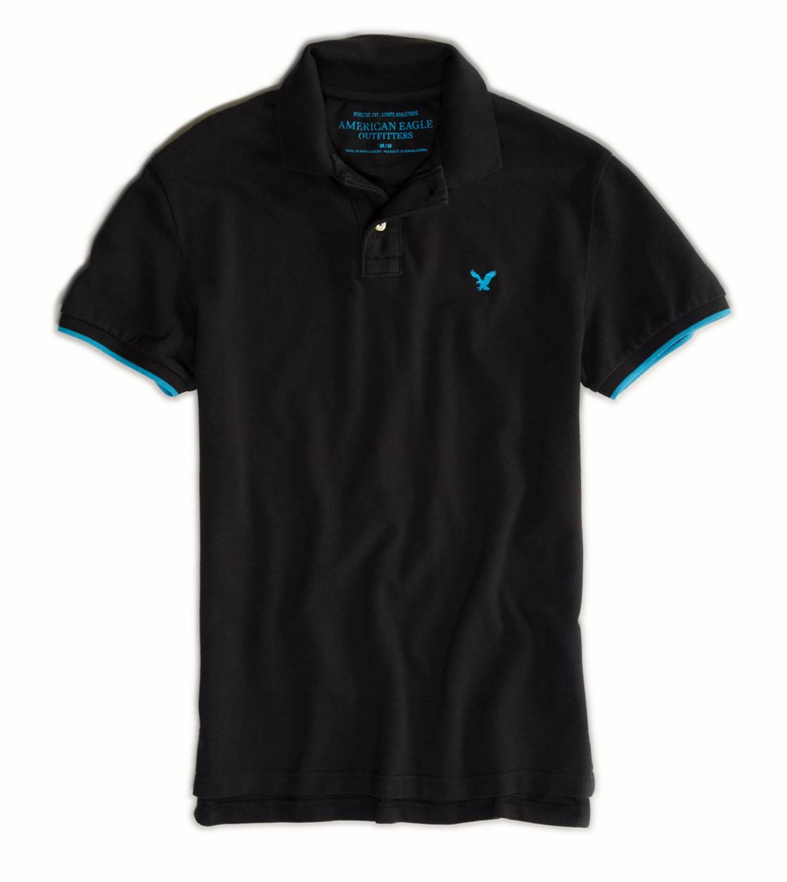 Sunset Black AE Tipped Polo