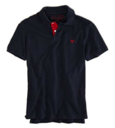 AE Contrast Placket Polo