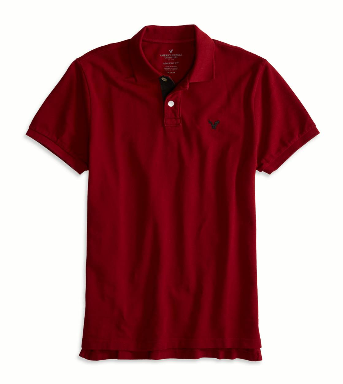 Red AE Contrast Placket Polo