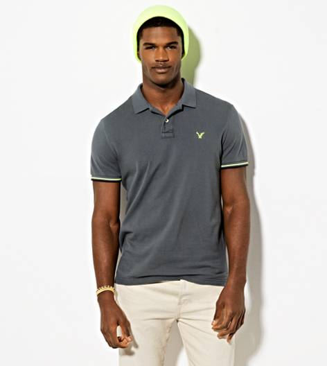Grey Branch AEO Double Tipped Polo Shirt