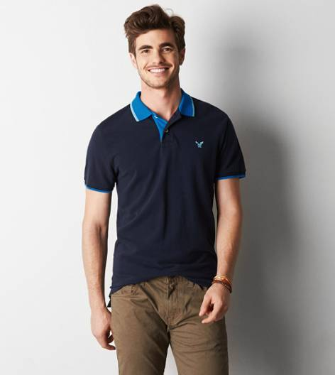 Fleet Navy AEO Tipped Polo