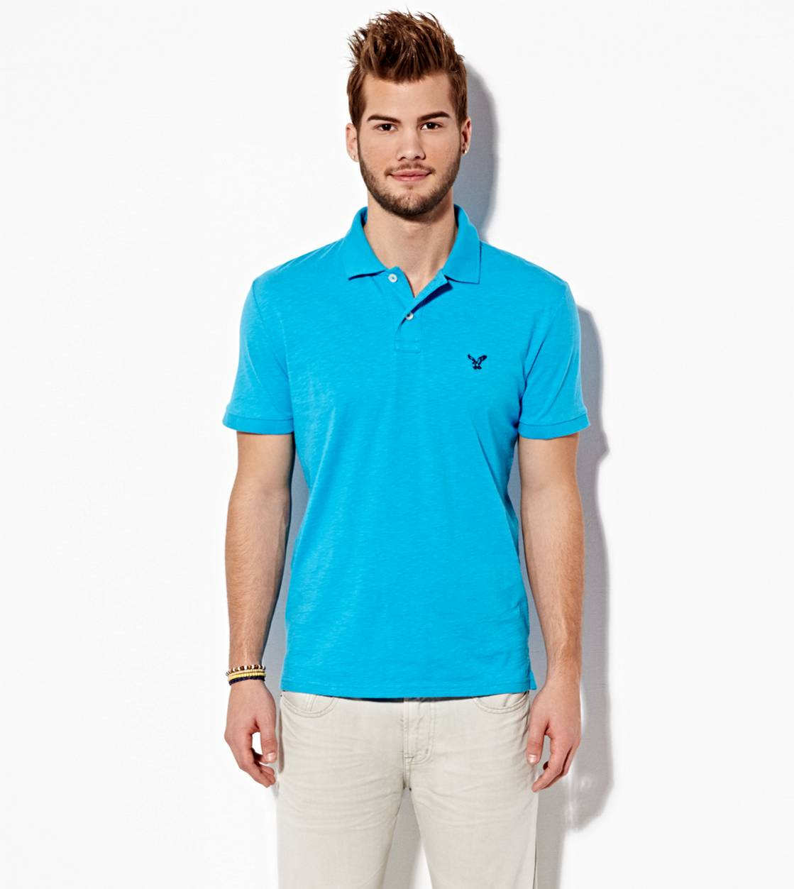 Surge Blue AE Slim Jersey Polo