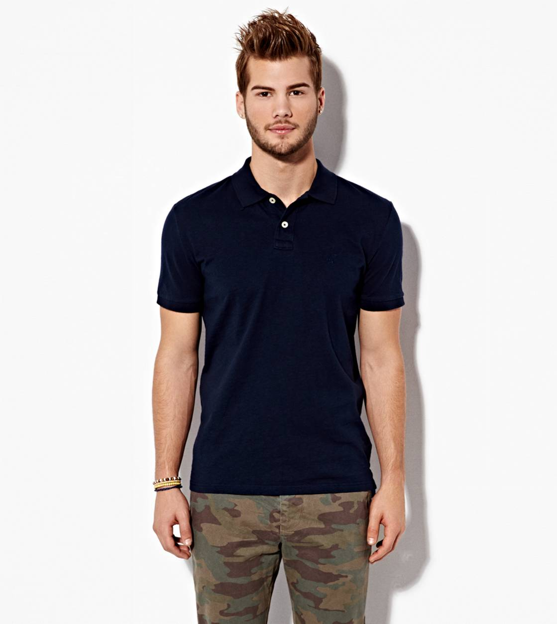 Deep Navy AE Slim Jersey Polo