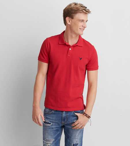 AEO Solid Pique Polo - Buy One Get One 50% Off