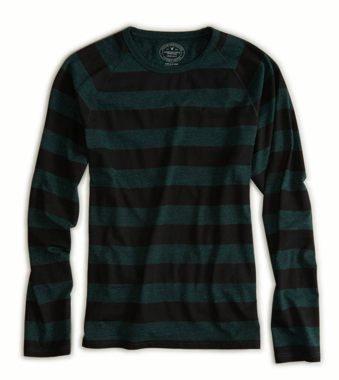 Green Jewel AE Striped Long Sleeve T-Shirt