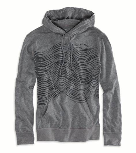 True Black AEO Graphic Hoodie T-Shirt