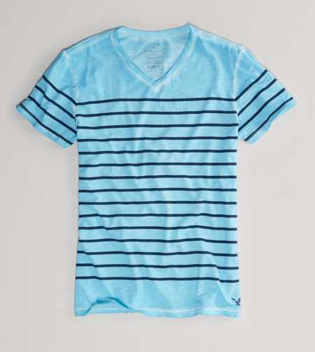 AE Striped V-Neck Tee