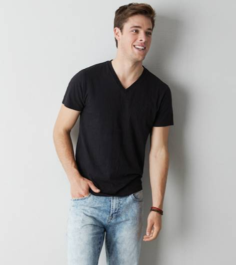 True Black AEO Legend V-Neck T-Shirt