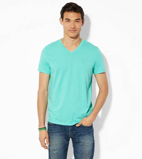 Aqua Mist AEO Legend V-Neck T-Shirt