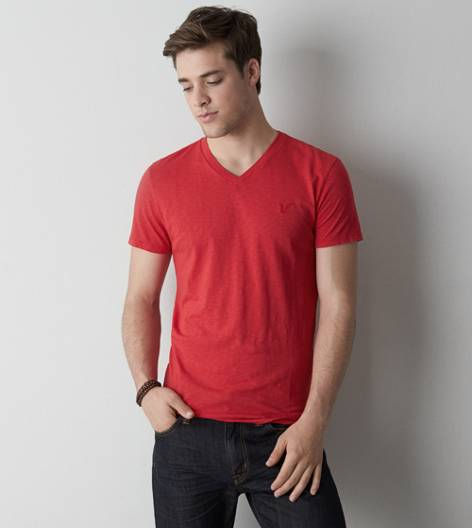 Nautical Red AEO Legend V-Neck T-Shirt