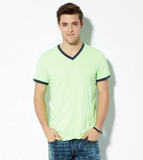 Firefly AEO Legend Ringer V-Neck T-Shirt