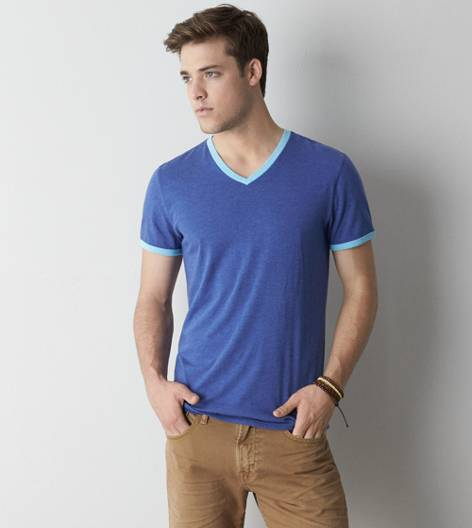 Stark AEO Legend Ringer V-Neck T-Shirt