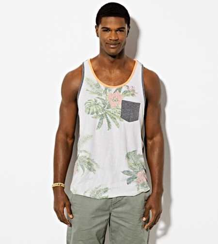 AE Floral Pocket Tank