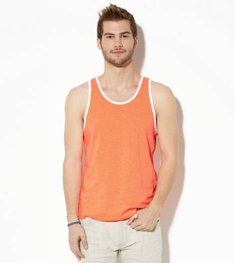 Bright Neon Red AEO Legend Ringer Tank