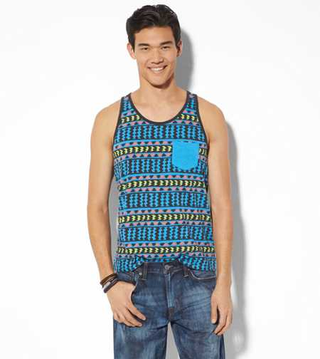 AEO Vintage Global Print Tank - Buy One Get One 50% Off