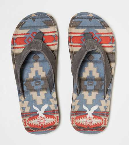AEO Printed Canvas Flip-Flop - Free Shipping On Shoes