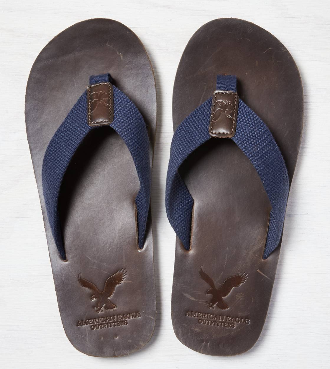 Brown AEO Canvas Flip Flop