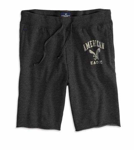 True Black AEO Fleece Short