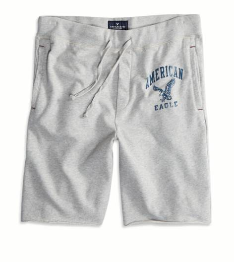 Grey AEO Fleece Short