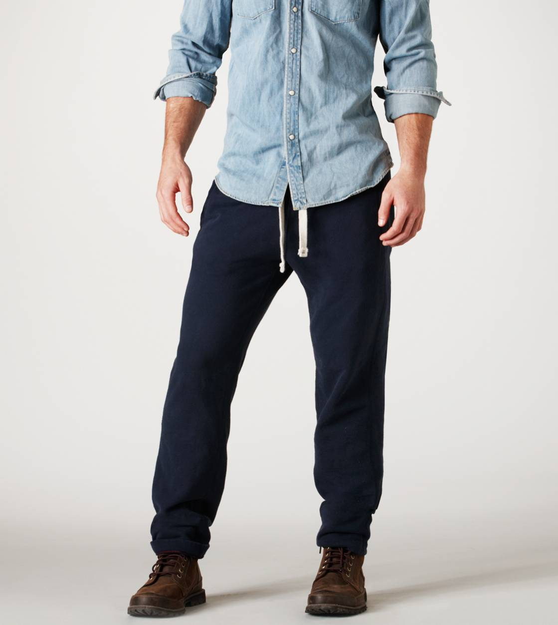 Fleet Navy AE Slim Fit Fleece Pant