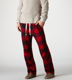 AE Plaid Flannel Pant
