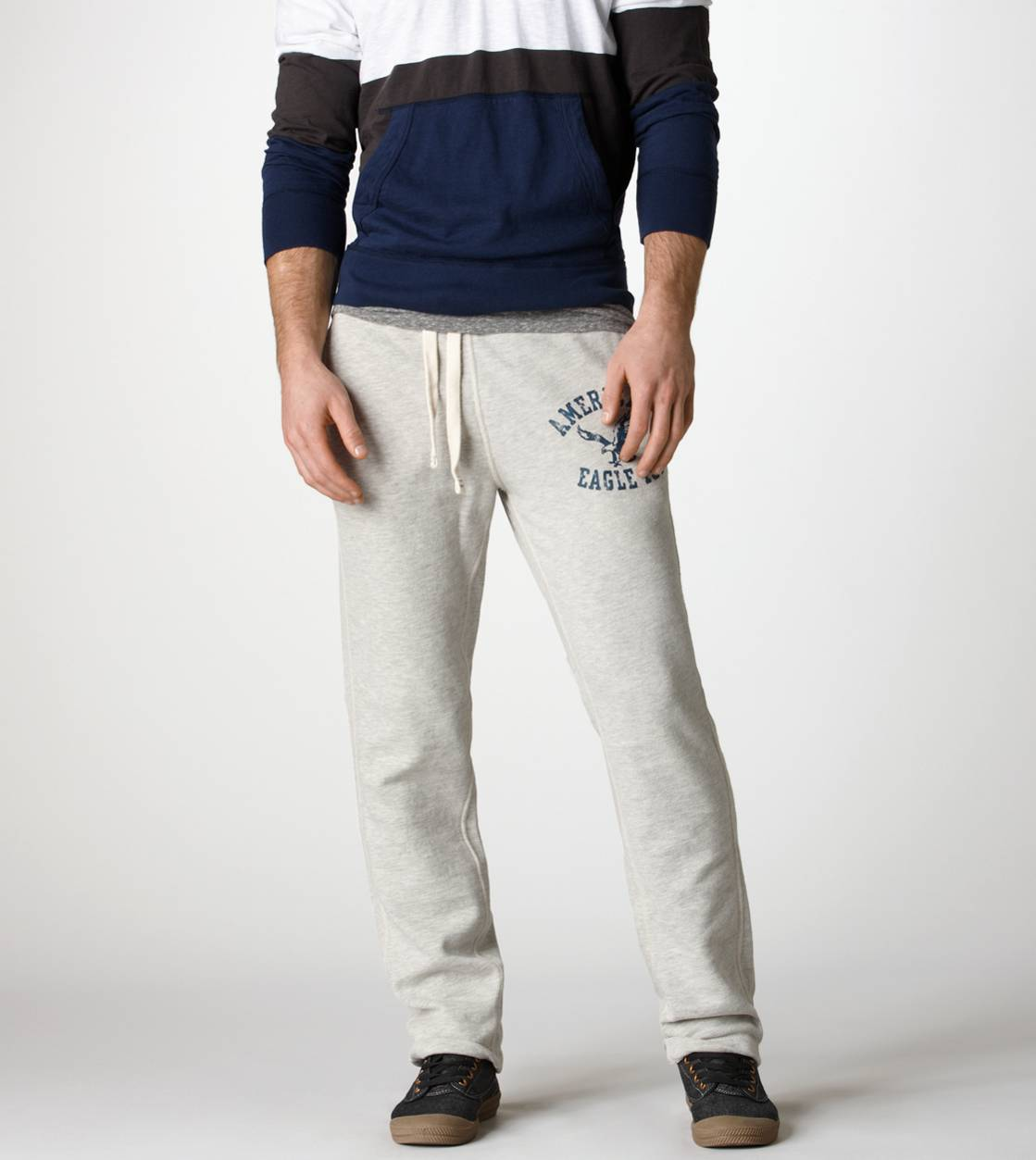 Grey Heather AE Slim Sweatpant