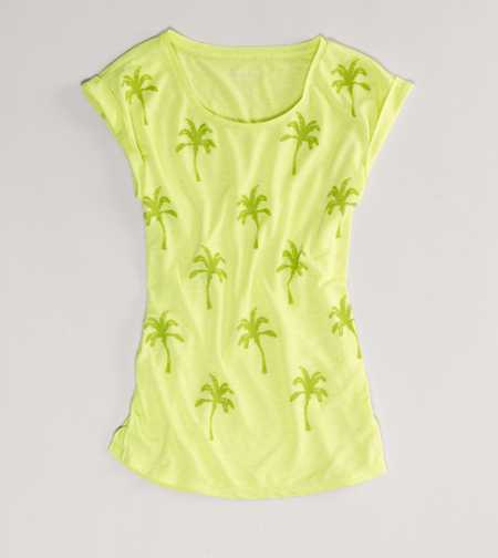AE Palm Tree Graphic Tee - Take 40% Off