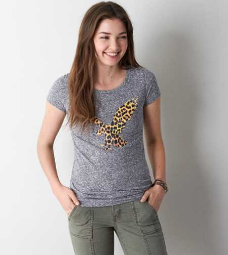 AEO Real Soft® Signature Scoop Neck Graphic T-Shirt - Buy One Get One 50% Off