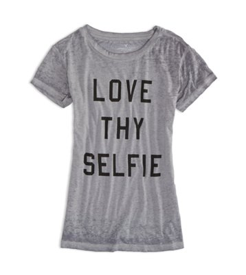 Sale alerts for American Eagle AE Love Thy Selfie Graphic T-Shirt - Covvet
