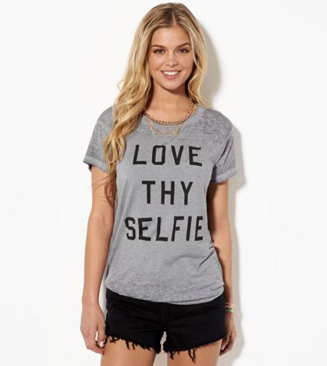 Delray Grey AE Love Thy Selfie Graphic T-Shirt