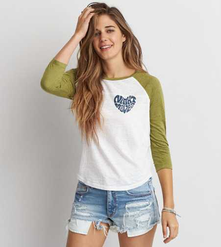 AEO Night Moves Baseball T-Shirt