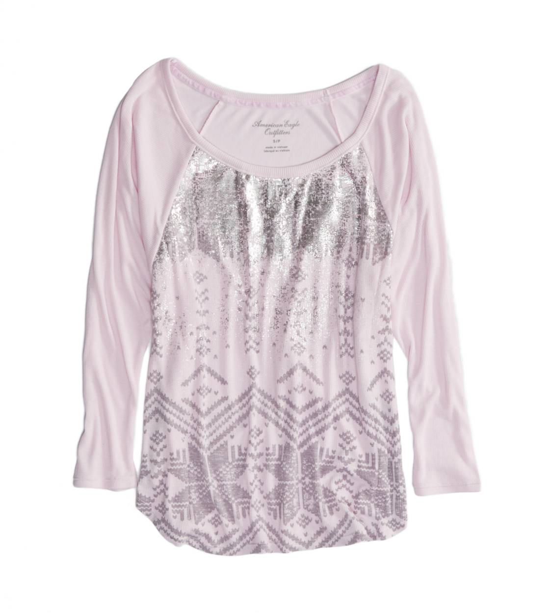 Violet Wash AE Metallic Dolman T-Shirt