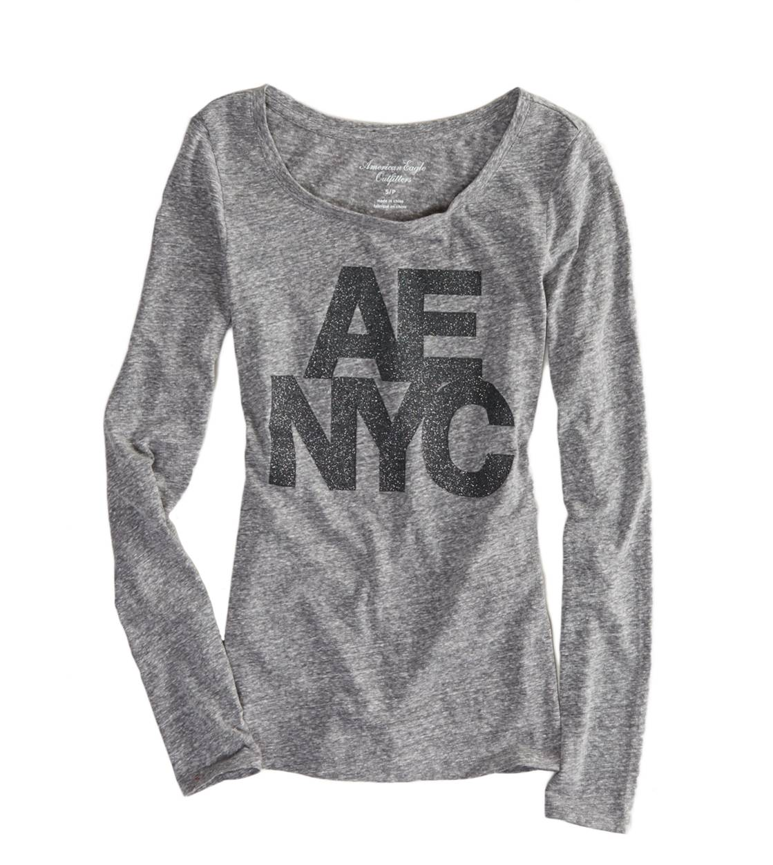 Grey AE New York Graphic T-Shirt