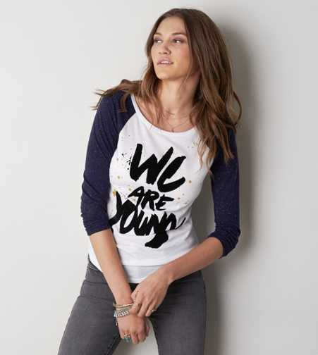 AEO We Are Young Graphic Baseball T-Shirt