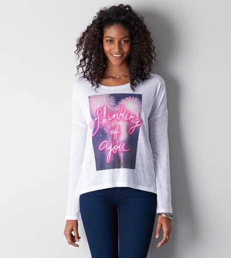 AEO Neon Graphic T-Shirt - Buy One Get One 50% Off