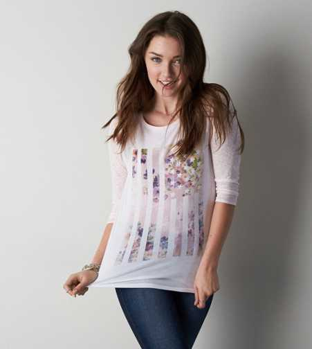 AEO Graphic Baseball T-Shirt