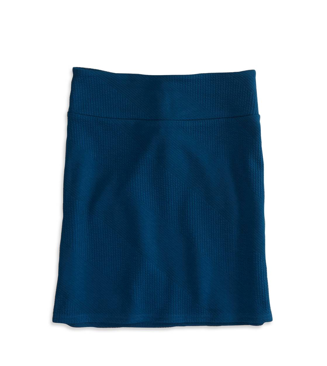 Poseidon Blue AE High-Rise Ribbed Pencil Skirt.
